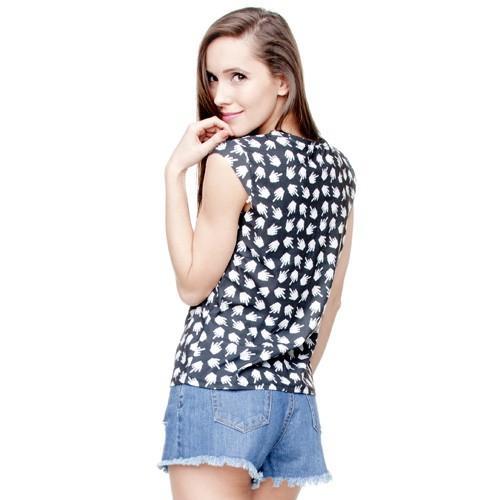 t-shirt woman sleeve druk PIXEL FUCK