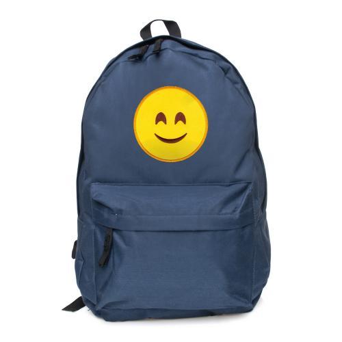 plecak naszywka EMOJI SMILE czarny