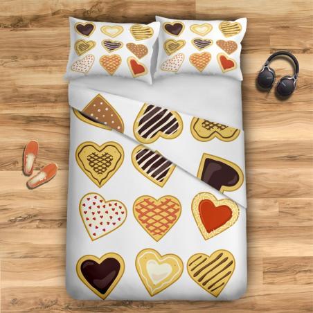 Komplet pościeli HEART cookies