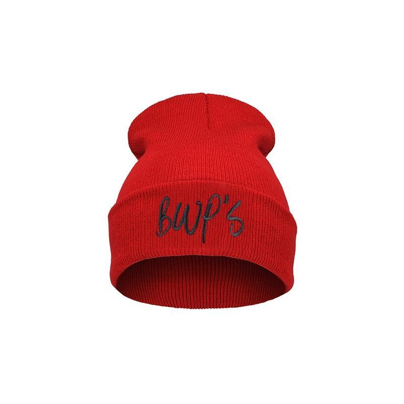 czapka krasnal haft BAD HAIR DAY /c.róż+bord/