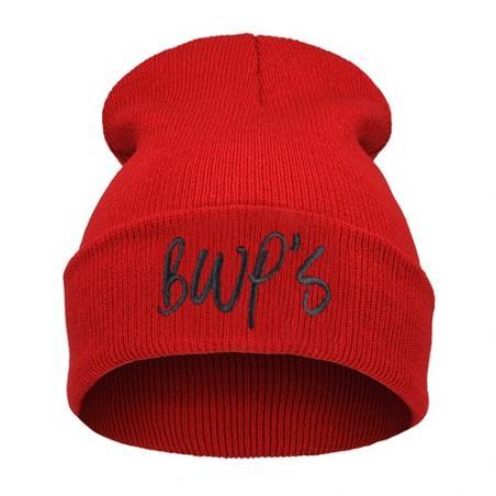 czapka krasnal haft BWPS /czerwona+czarny/