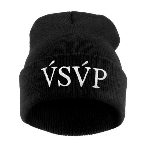 czapka czapka krasnal haft biały VSVP /czarna/