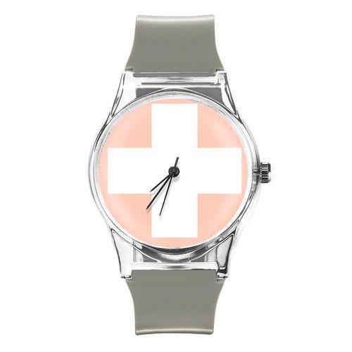 zegarek red cross /szary/