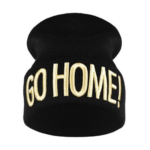 krasnal haft 3D GO HOME /czarna+złoty/