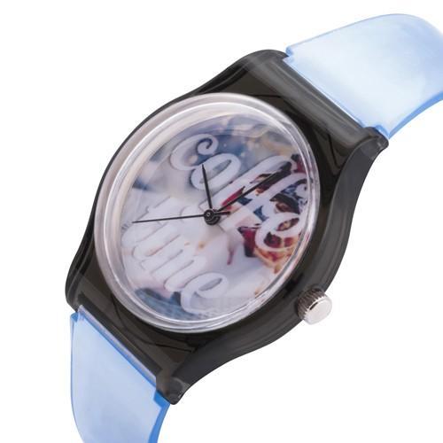 zegarek coffe time /błękitny/