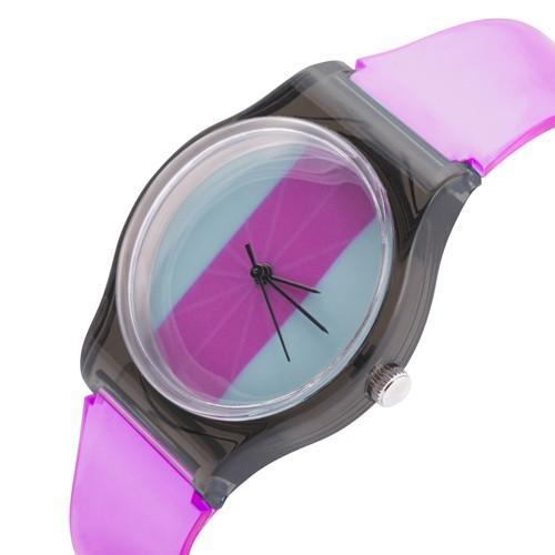 zegarek color /fuksja/