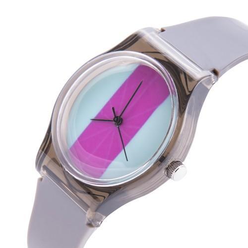 zegarek color /szary/