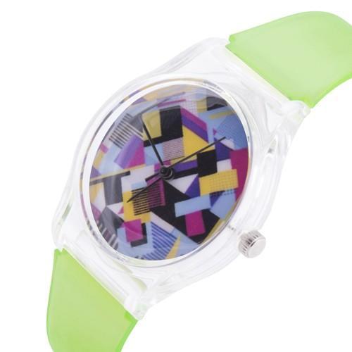 zegarek colors /n. zielony/