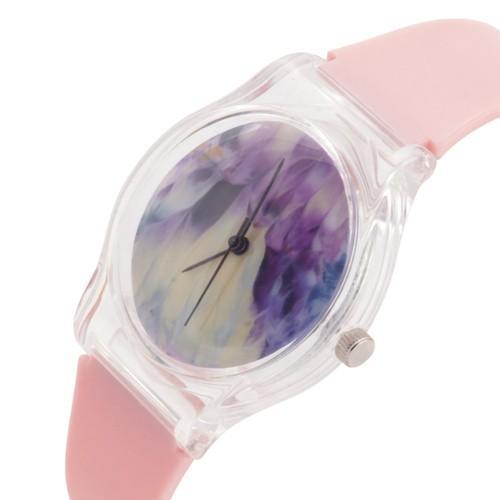 zegarek feather /różowy/