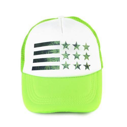 czapka summer WEED FLAG /neonowa zieleń/