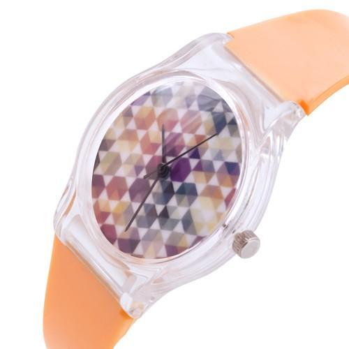 zegarek hexagon /pomarańczowy/