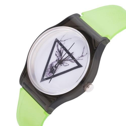 zegarek jeleń /n. zielony/