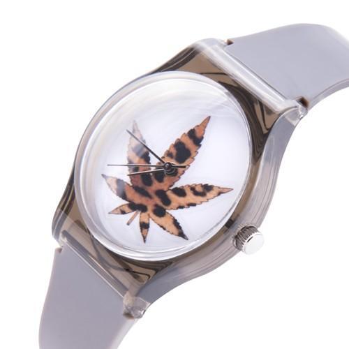 zegarek marijuana /szaro-czarny/