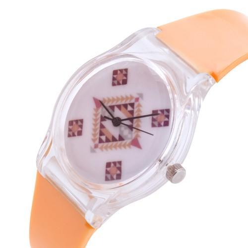 zegarek pattern /pomarańczowy/