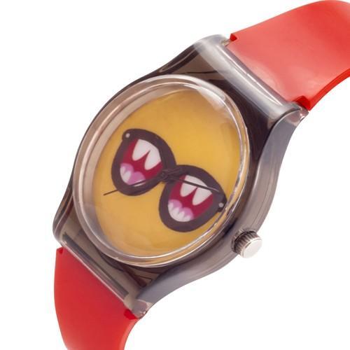 zegarek sunglasses /czerwono-czarny/