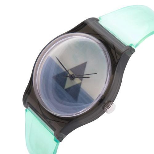 zegarek triangle /miętowo-czarny/