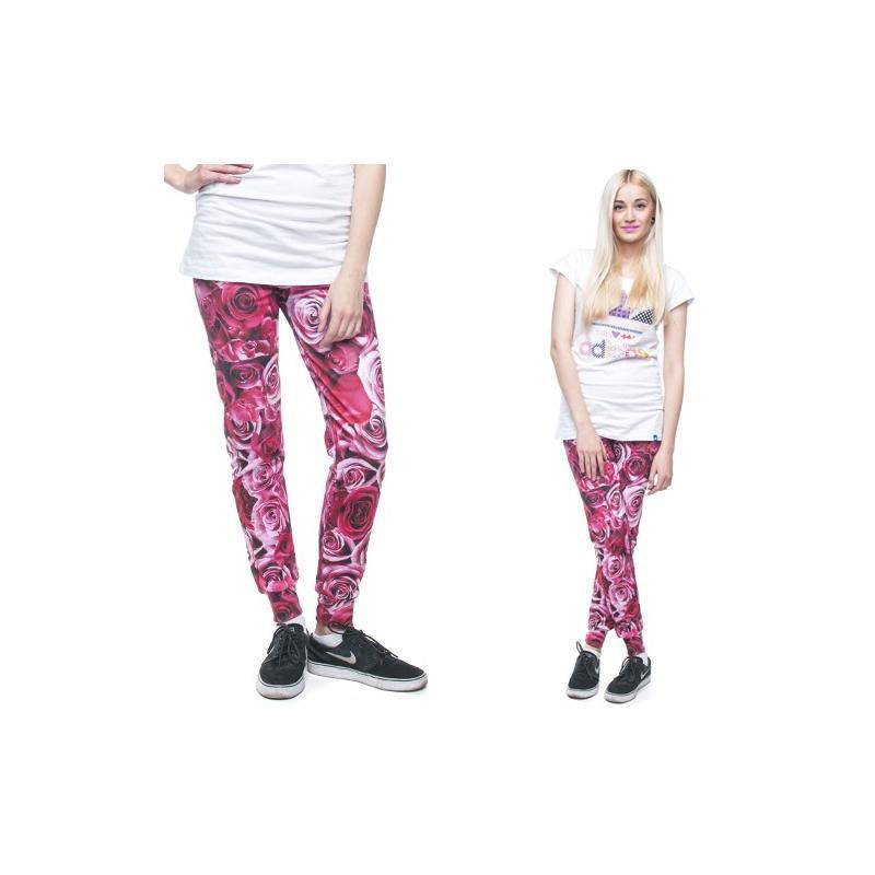 spodnie dresowe druk PINK ROSES