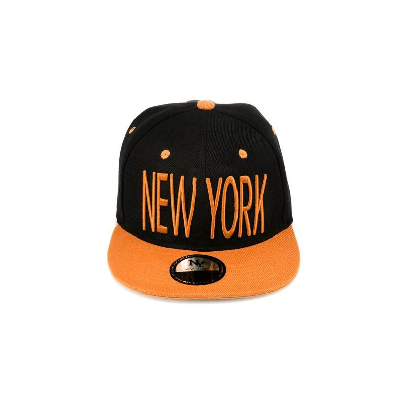czapka SC NEW YORK1 slim/czarno-pom./