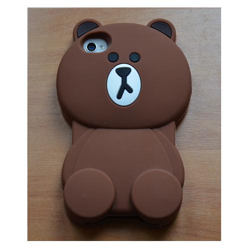 Etui iPhone 4G/4S MIŚ brązowy