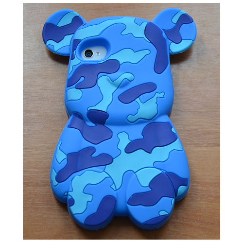 Etui iPhone 4G/4S BEAR BLUE