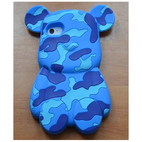 Etui iPhone 4G/4S BEAR BLUE