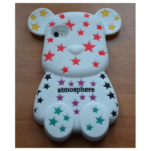 Etui iPhone 4G/4S  STARS BEAR biały