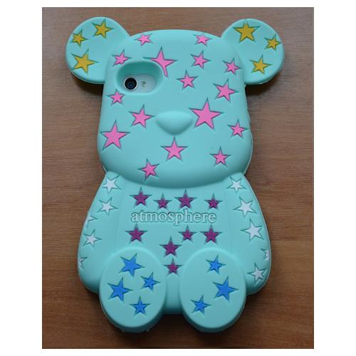 Etui iPhone 4G/4S STARS BEAR miętowy