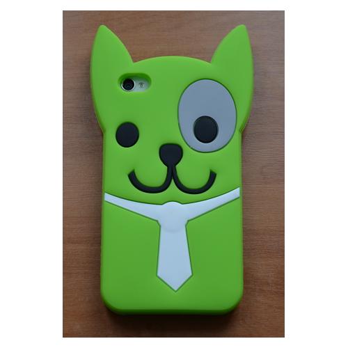 Etui iPhone 4G/4S PIESEK zielona