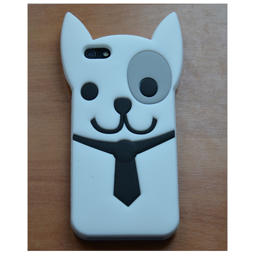 Etui iPhone 5G/5S DOG WHITE