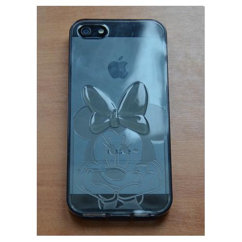 Etui iPhone 5G/5S MYSZAK czarne/przeźroczyste