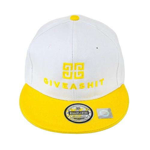 czapka SC GIVE A SHIT/biało-żółta/