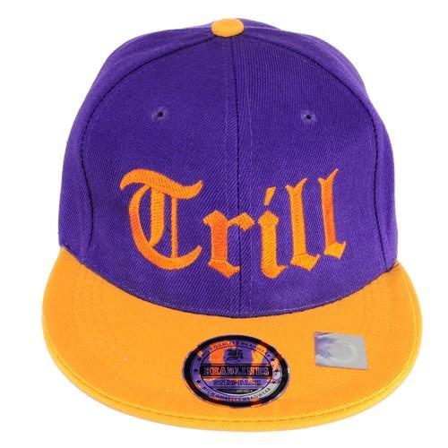 czapka SC haft THRILL/fiolet-żółta/