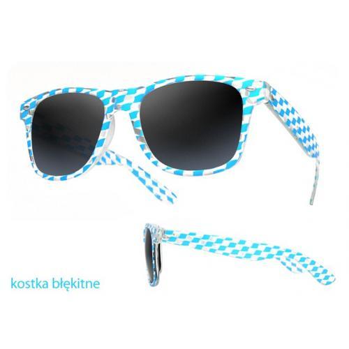 okulary przeciwsłoneczne kostka BŁĘKITNA