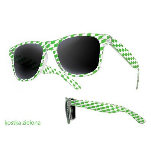 okulary przeciwsłoneczne kostka ZIELONA