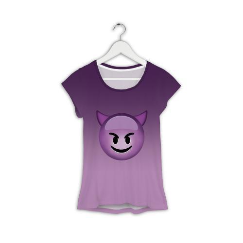 T-shirt woman druk WEED PINK