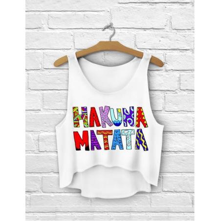 TOP summer druk HAKUNA MATATA white