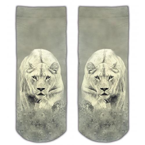 Skarpetki druk WHITE LION
