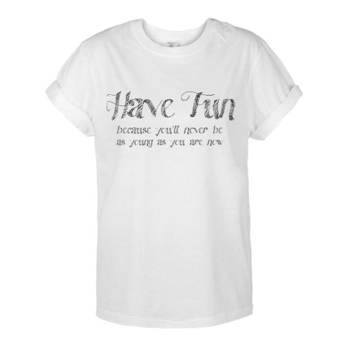 T-shirt OVERSIZE HAVE FUN /biała/