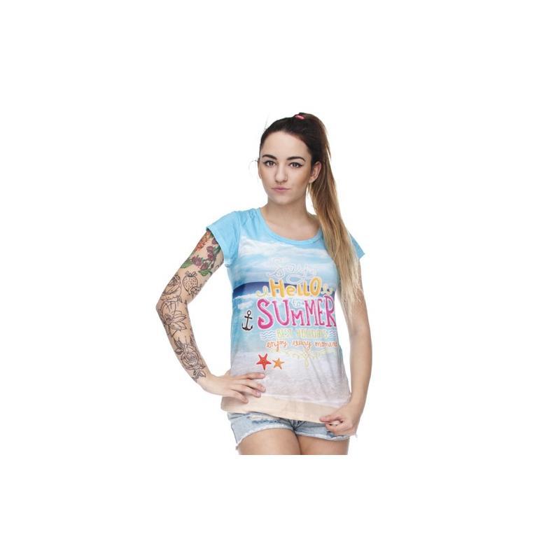 T-shirt woman druk HAKUNA AZTEC GREEN