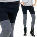 legginsy skirt duo /szare/