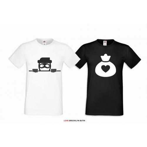 T-shirt DLA PAR 2 SZT RABUŚ HEART