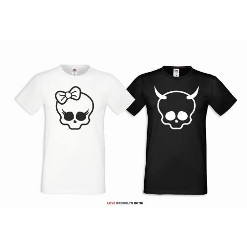 T-shirt DLA PAR 2 SZT SKULLS COUPLE