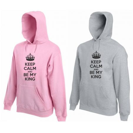 Bluza z kapturem DLA PAR 2 SZT BE MY KING & BE MY QUEEN