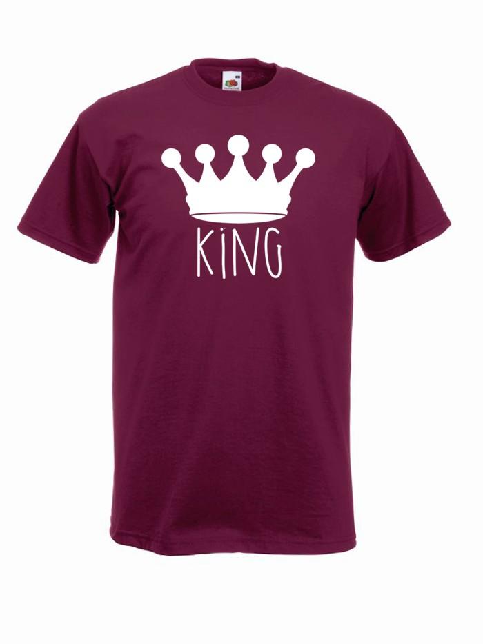 T-shirt oversize KING KORONA 2 M burgund