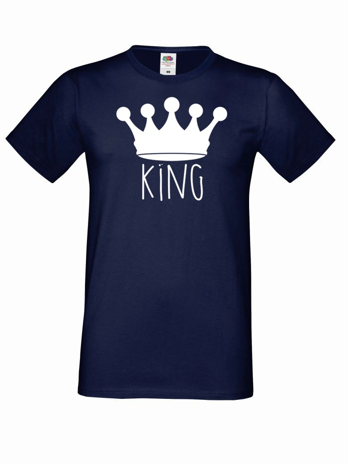 T-shirt oversize KING KORONA 2 XL granatowy
