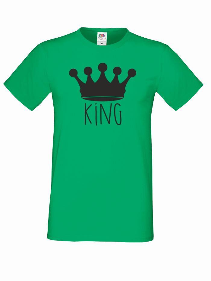 T-shirt oversize KING KORONA 2 XL zielony