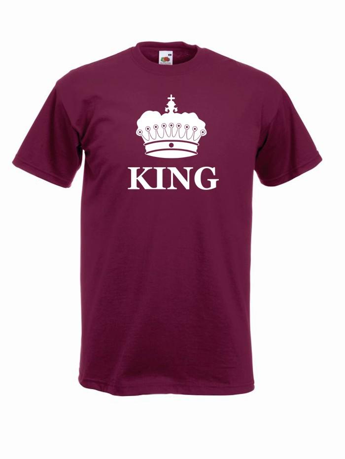 T-shirt oversize KING KORONA L burgund