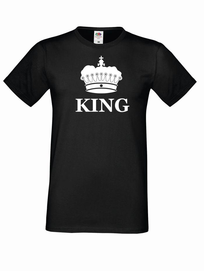T-shirt oversize KING KORONA M czarny