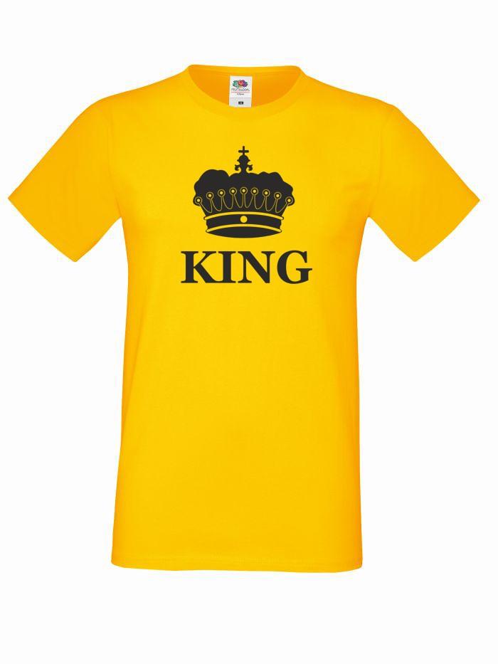T-shirt oversize KING KORONA M żółty