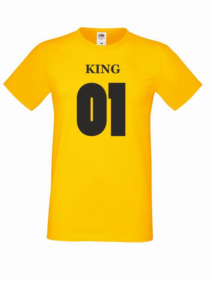 T-shirt oversize KING 01 M żółty